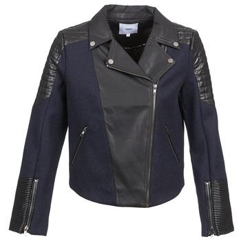 material Women Jackets / Blazers Suncoo DARCY Marine / Black