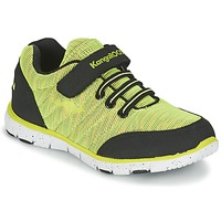 Shoes Boy Low top trainers Kangaroos NURI ZEBRA Green / Black