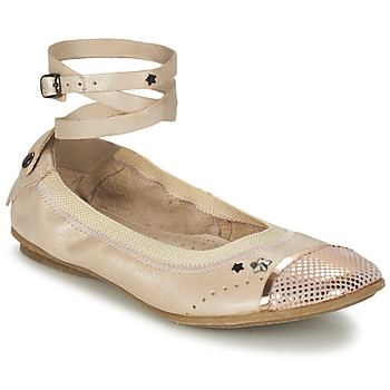 Shoes Girl Ballerinas Ikks EMILY BEIGE / Pink