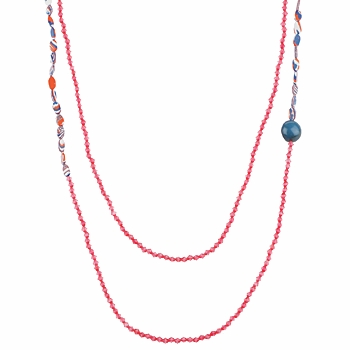Watches & Jewellery Women Necklaces Zaza Factory INDIEN Pink