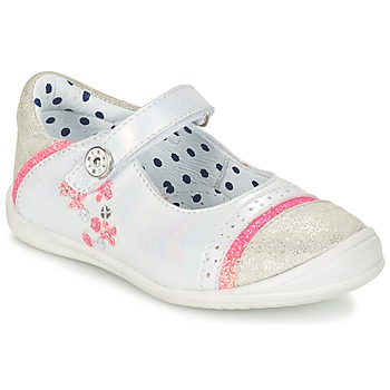 Shoes Girl Ballerinas Catimini PIPISTRELLE Vte / White-fluo / Dpf
