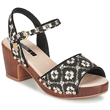 Shoes Women Clogs Lollipops ZOOM WOOD HEEL SANDAL Black / White
