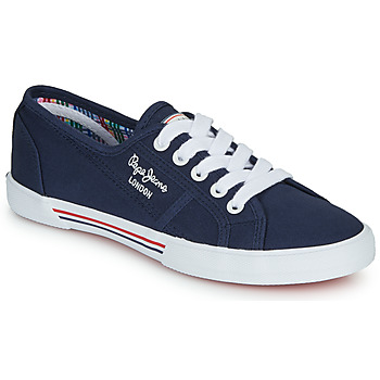 Shoes Women Low top trainers Pepe jeans ABERLADY Marine