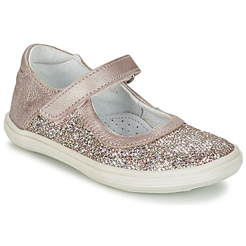 Shoes Girl Ballerinas GBB PLACIDA Pink / Gold