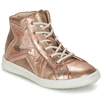 Shoes Girl High top trainers GBB PRUNELLA Pink / Gold