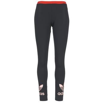 material Women leggings adidas Originals TREFOIL LEGGING Black / Pink