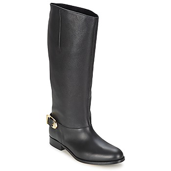 Shoes Women Boots Moschino Cheap & CHIC BUCKLE Black