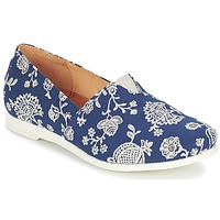 Shoes Women Slip ons Think GRIVA Marine / White