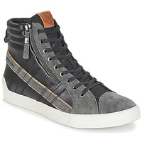 Shoes Men High top trainers Diesel D-STRING PLUS Black / Grey