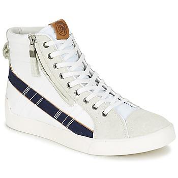 Shoes Men High top trainers Diesel D-STRING PLUS White / Blue