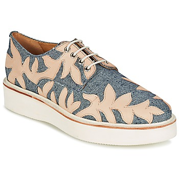Shoes Women Derby shoes Melvin & Hamilton MOLLY 11 Blue / Beige