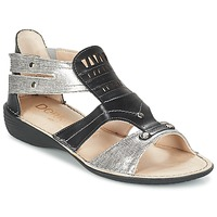 Shoes Women Sandals Dorking ODA Black / Silver
