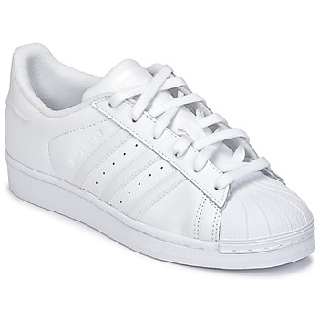 Shoes Children Low top trainers adidas Originals SUPERSTAR White