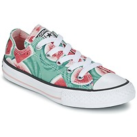 Shoes Girl Low top trainers Converse CHUCK TAYLOR ALL STAR WATERMELON OX Green / Red / White
