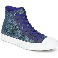 Shoes Men High top trainers Converse CHUCK TAYLOR ALL STAR II OPEN KNIT HI Blue