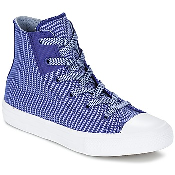 Shoes Children High top trainers Converse CHUCK TAYLOR ALL STAR II BASKETWEAVE FUSE TD HI Indigo / Blue / White