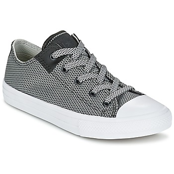 Shoes Children Low top trainers Converse CHUCK TAYLOR ALL STAR II BASKETWEAVE FUSE TD OX Grey / White