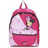 Bags Girl Rucksacks Disney MINNIE SCRATCH DOTS SAC A DOS BORNE Pink