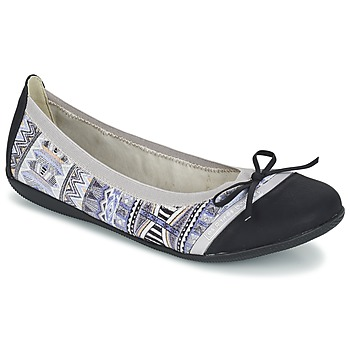 Shoes Women Ballerinas LPB Woman CAPRICE Grey / Black