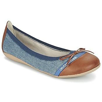 Shoes Women Ballerinas Les P'tites Bombes CAPRICE Blue / CAMEL
