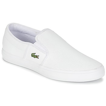 Shoes Men Slip ons Lacoste GAZON BL 1 White