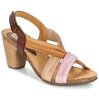 Shoes Women Sandals Bunker LIZ Brown / Pink