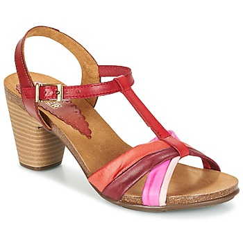 Shoes Women Sandals Bunker LIZ Red / Pink