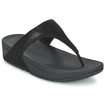 Shoes Women Flip flops FitFlop SHIMMY SUEDE TOE-POST Black