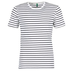 material Men short-sleeved t-shirts Benetton MAKOUL Blue / White