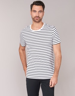 material Men short-sleeved t-shirts Benetton MAKOUL Blue / White