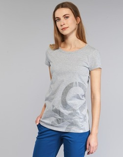 material Women short-sleeved t-shirts Benetton MADOUL Grey