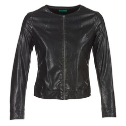 material Women Leather jackets / Imitation le Benetton JANOURA Black