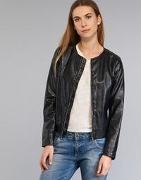 material Women Leather jackets / Imitation le Benetton JANOURA Black