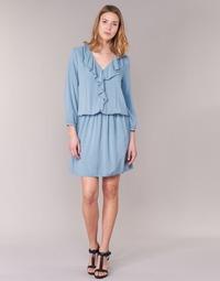 material Women Short Dresses Benetton AFIDOUL Blue