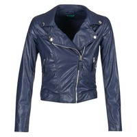 material Women Leather jackets / Imitation le Benetton FERDONI Marine