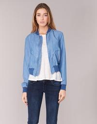 material Women Denim jackets Benetton FERMANO Blue / Medium
