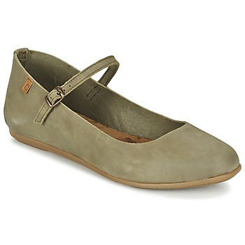 Shoes Women Ballerinas El Naturalista STELLA Grey / KAKI