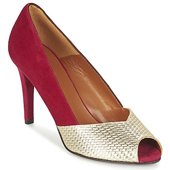 Shoes Women Court shoes Heyraud ELOISE Red / Gold