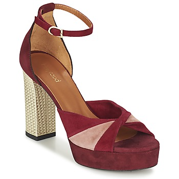 Shoes Women Sandals Heyraud EVELINE Red / Pink / Gold