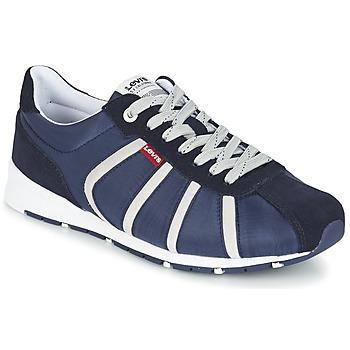 Shoes Men Low top trainers Levi's ALMAYER II Marine / White