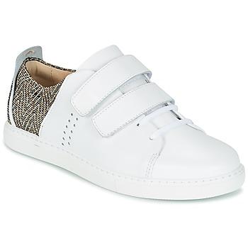 Shoes Women Low top trainers M. Moustache RENEE White / Jacquard