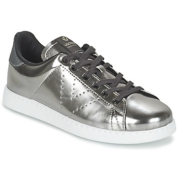 Shoes Women Low top trainers Victoria DEPORTIVO BASKET METALLISE Silver