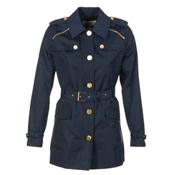 material Women Trench coats MICHAEL Michael Kors ZIPPER YOKE TRENCH MARINE