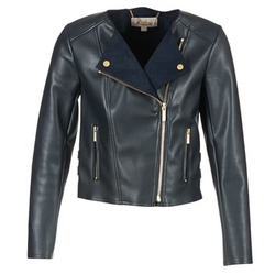 material Women Leather jackets / Imitation le MICHAEL Michael Kors BONDED LTHER JKT MARINE