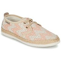 Shoes Women Low top trainers Bamba By Victoria BLUCHER TEJIDO ZIG-ZAG Salmon