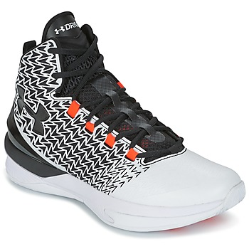 Shoes Men Basketball shoes Under Armour UA ClutchFit Drive 3 White / Black / Orange