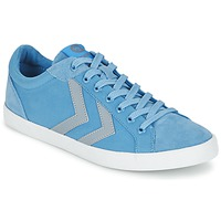 Shoes Low top trainers Hummel DEUCE COURT SUMMER Blue / Grey