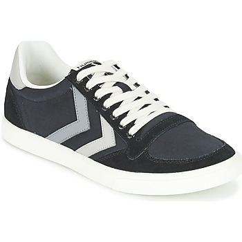 Shoes Low top trainers Hummel TEN STAR DUO CANVAS LOW Black / Grey