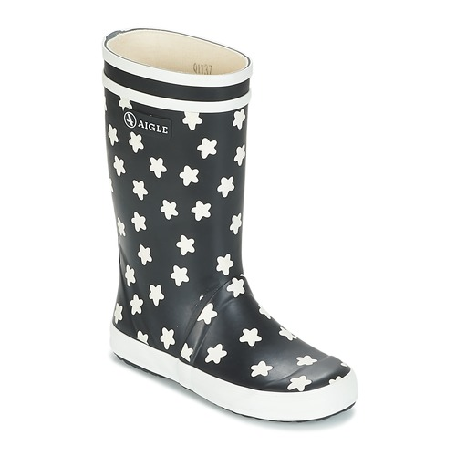 Shoes Girl Wellington boots Aigle LOLLY POP PRINT Marine / Multicolour