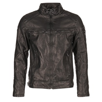 material Men Leather jackets / Imitation le Deeluxe SPANGLE Black